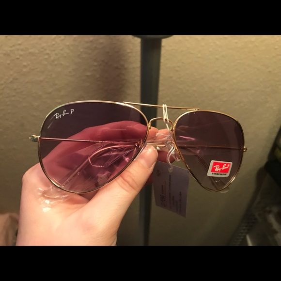 ab241e843b5 Ray Ban Magenta Flash Gold Sunglasses!